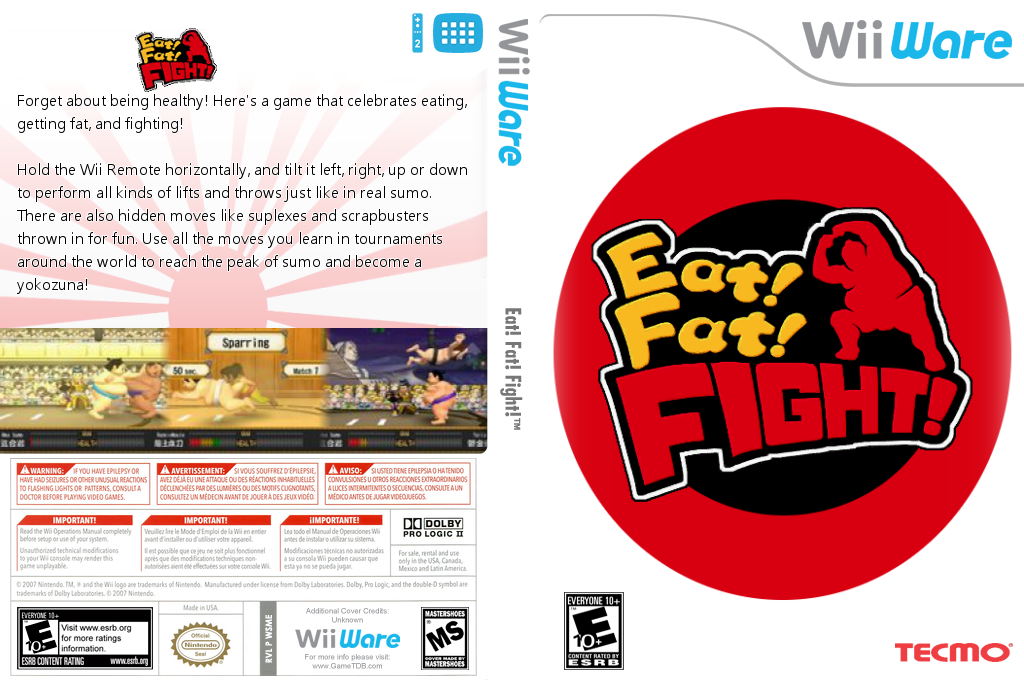 Eat! Fat! FIGHT! Wii coverfullHQ (WSME)