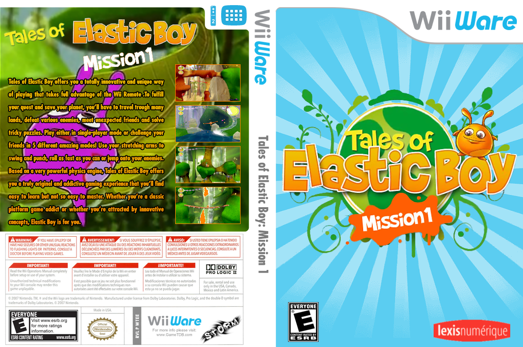 Tales of Elastic Boy: Mission 1 Wii coverfullHQ (WTEE)