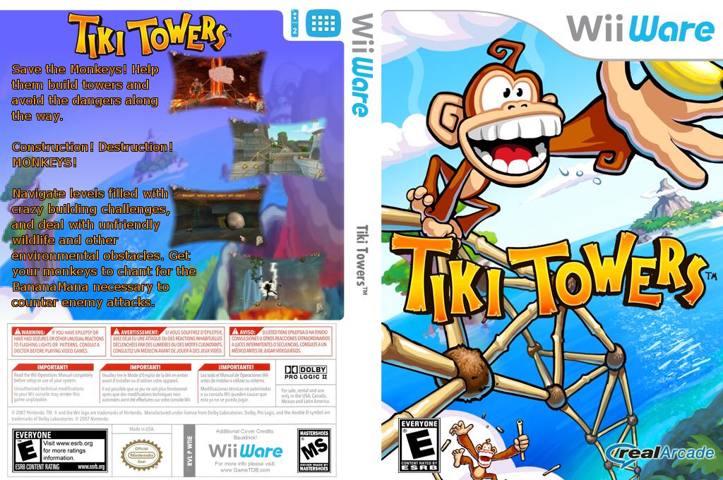 Tiki Towers Wii coverfullHQ (WTIE)