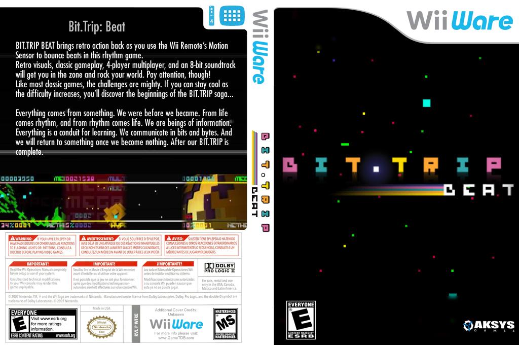 Bit.Trip Beat Wii coverfullHQ (WTRE)