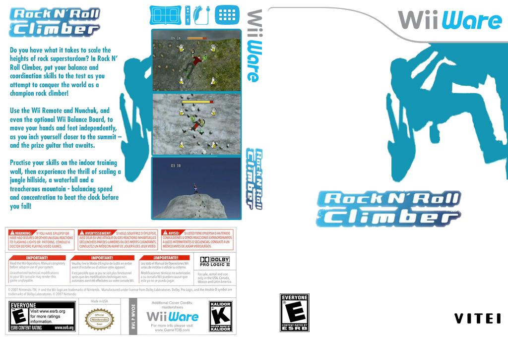 Rock N' Roll Climber Wii coverfullHQ (WVOE)