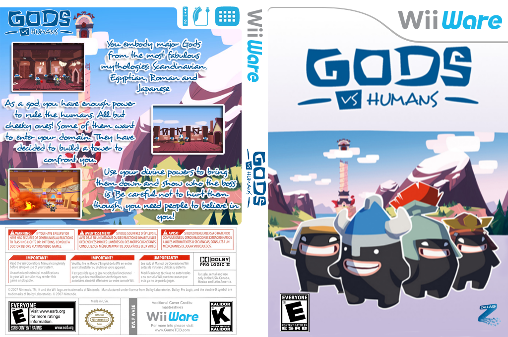 Gods Vs Humans Wii coverfullHQ (WVSE)
