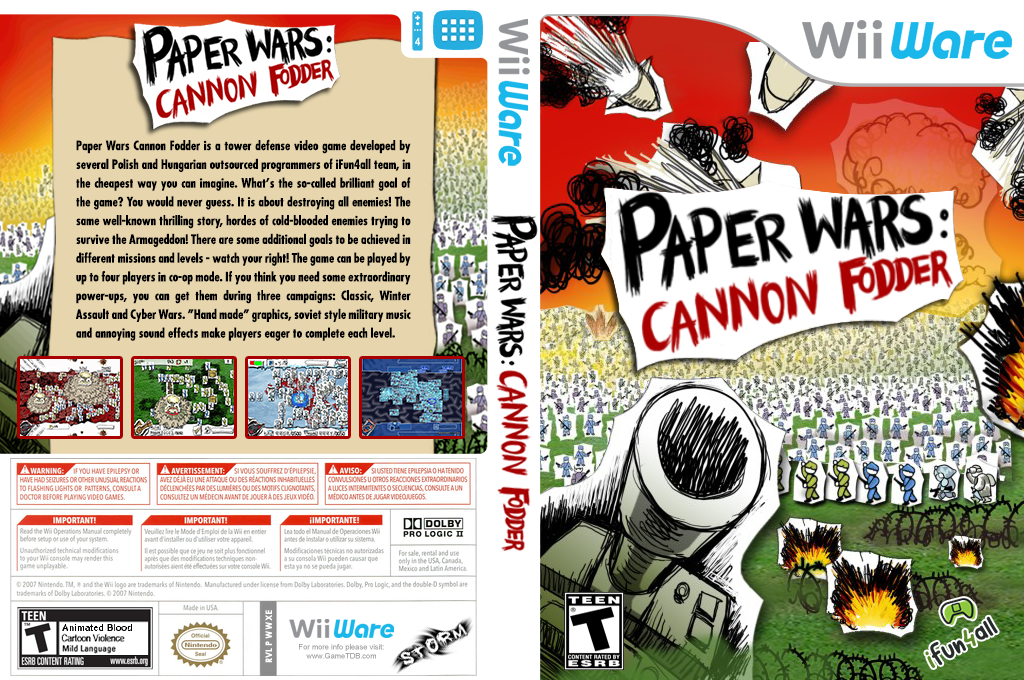 Paper Wars: Cannon Fodder Wii coverfullHQ (WWXE)