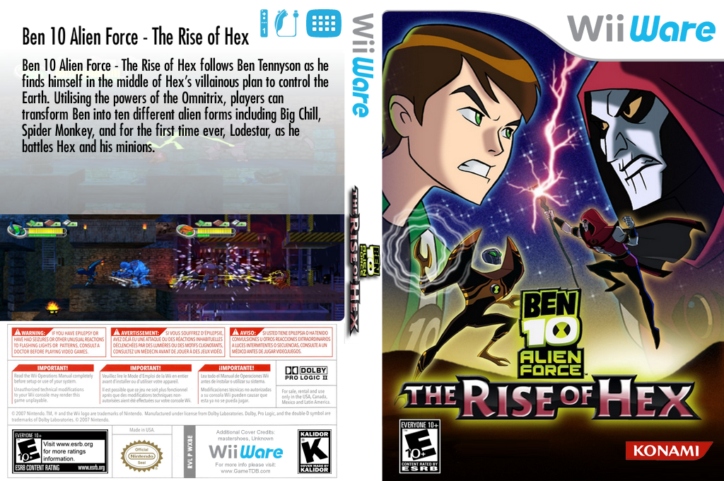 Ben 10: Alien Force - The Rise of Hex Wii coverfullHQ (WXBE)