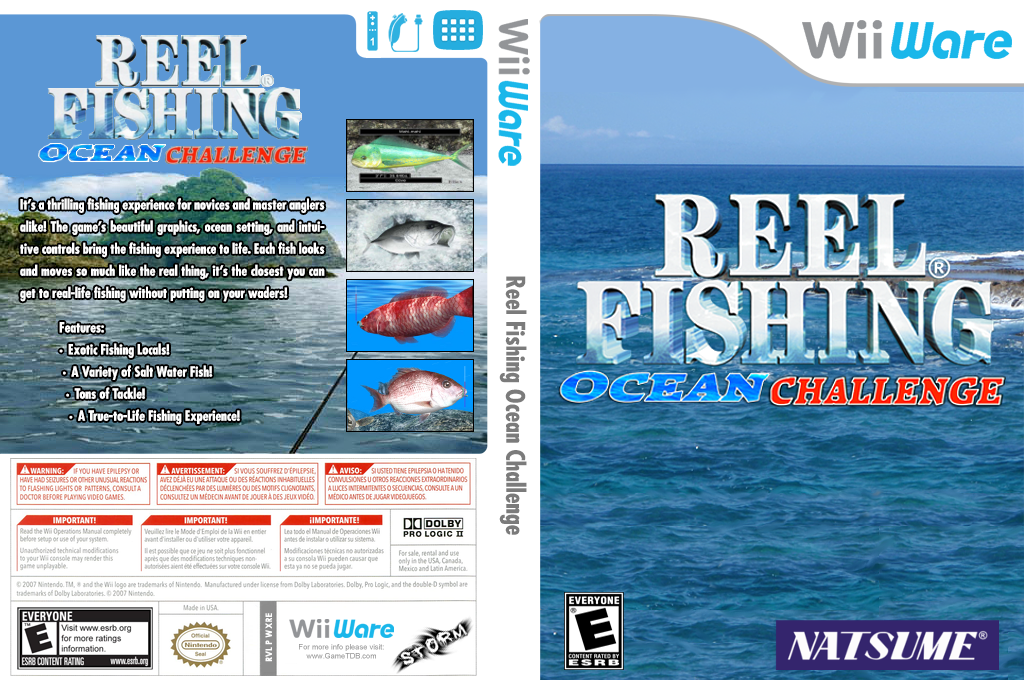 Reel Fishing Ocean Challenge Wii coverfullHQ (WXRE)