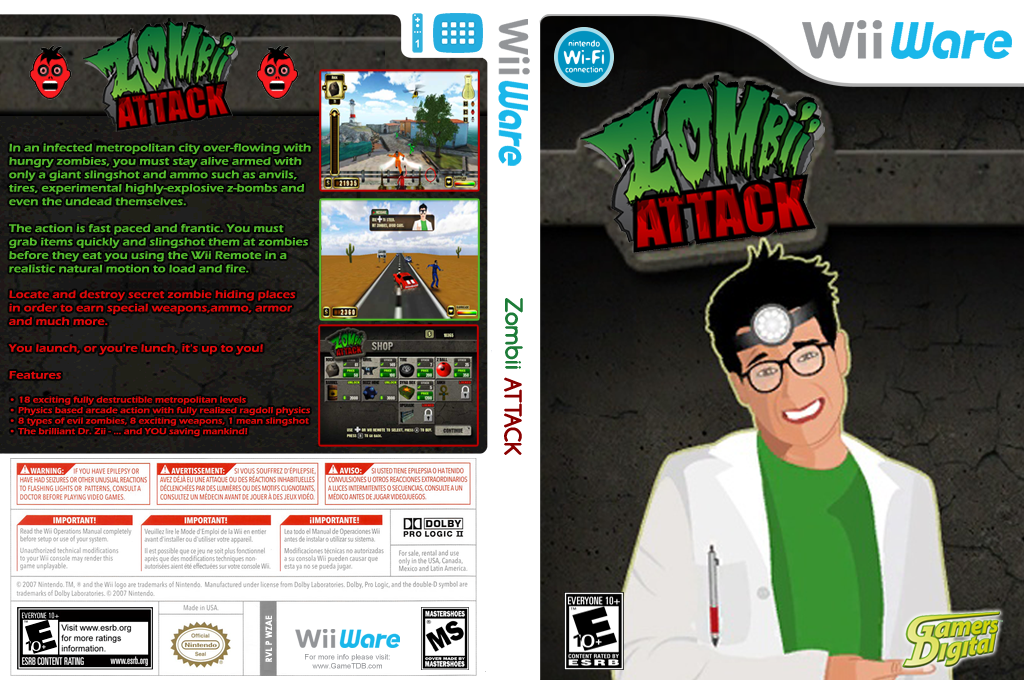 Zombii Attack Wii coverfullHQ (WZAE)