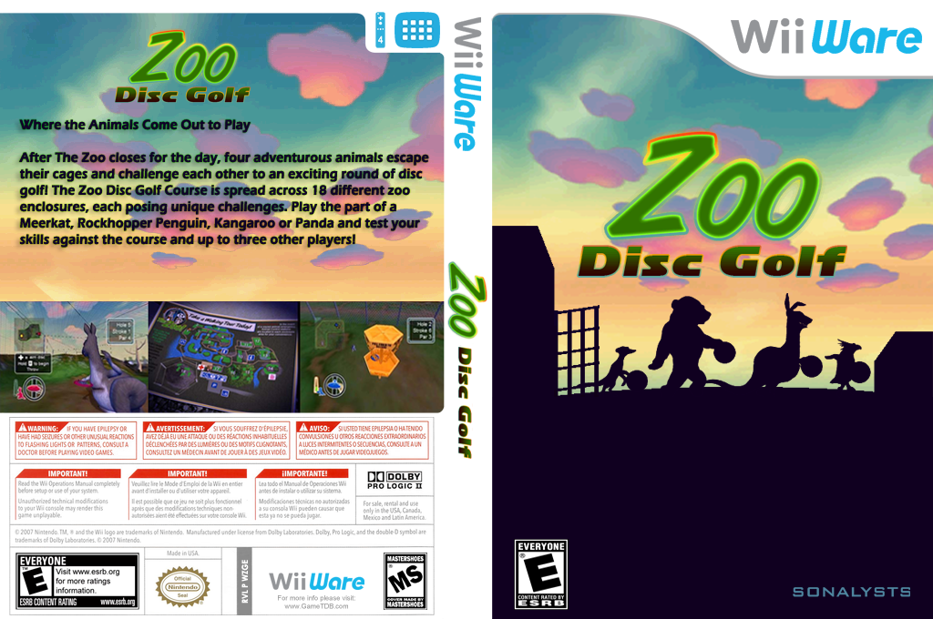 Zoo Disc Golf Wii coverfullHQ (WZGE)