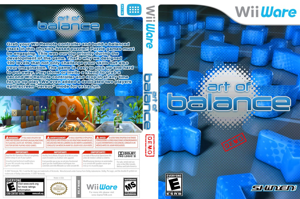 Art of Balance (Demo) Wii coverfullHQ (XHME)
