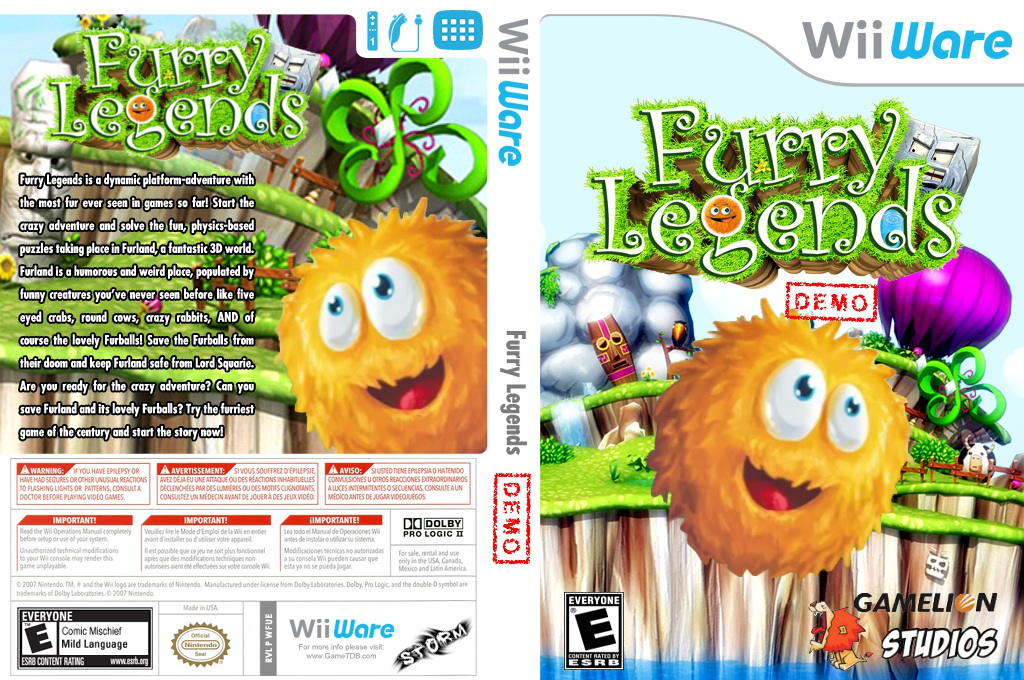 Furry Legends (Demo) Wii coverfullHQ (XHRE)