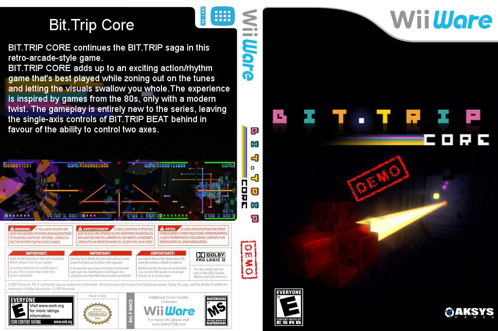 BIT.TRIP CORE (Demo) Wii coverfullHQ (XHVE)