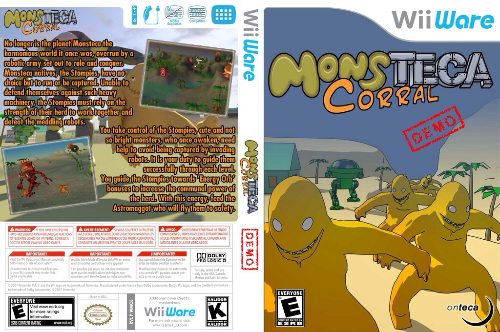 Monsteca Corral Demo Wii coverfullHQ (XIKE)