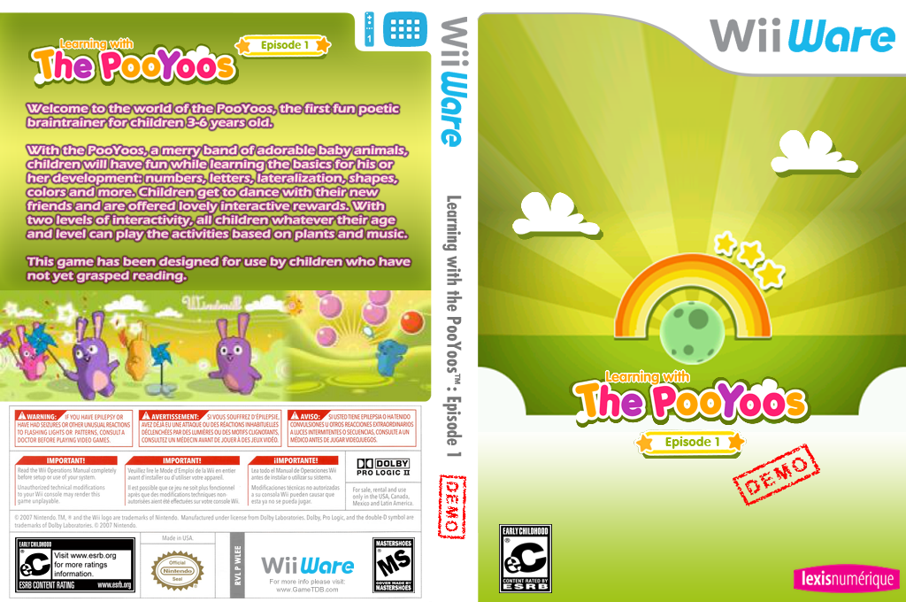 Learning with the Pooyoos Episode 1 (Demo) Wii coverfullHQ (XINE)
