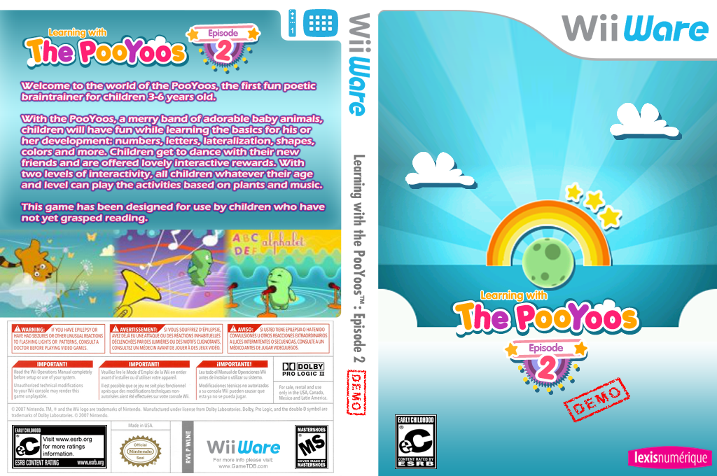 Learning with the Pooyoos Episode 2 Demo Wii coverfullHQ (XIOE)