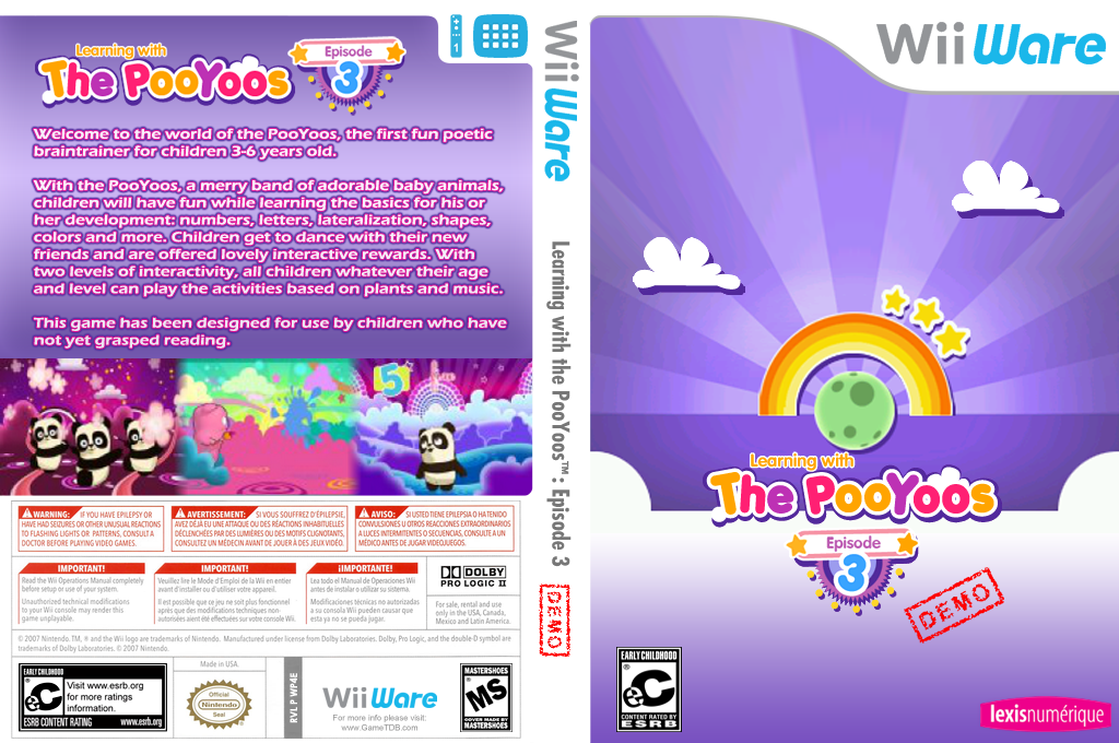 Learning with the Pooyoos Episode 3 Demo Wii coverfullHQ (XIPE)