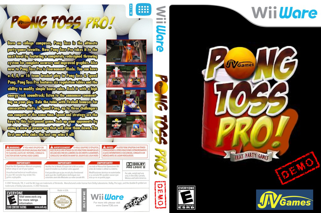 Pong Toss Pro Demo Wii coverfullHQ (XIRE)