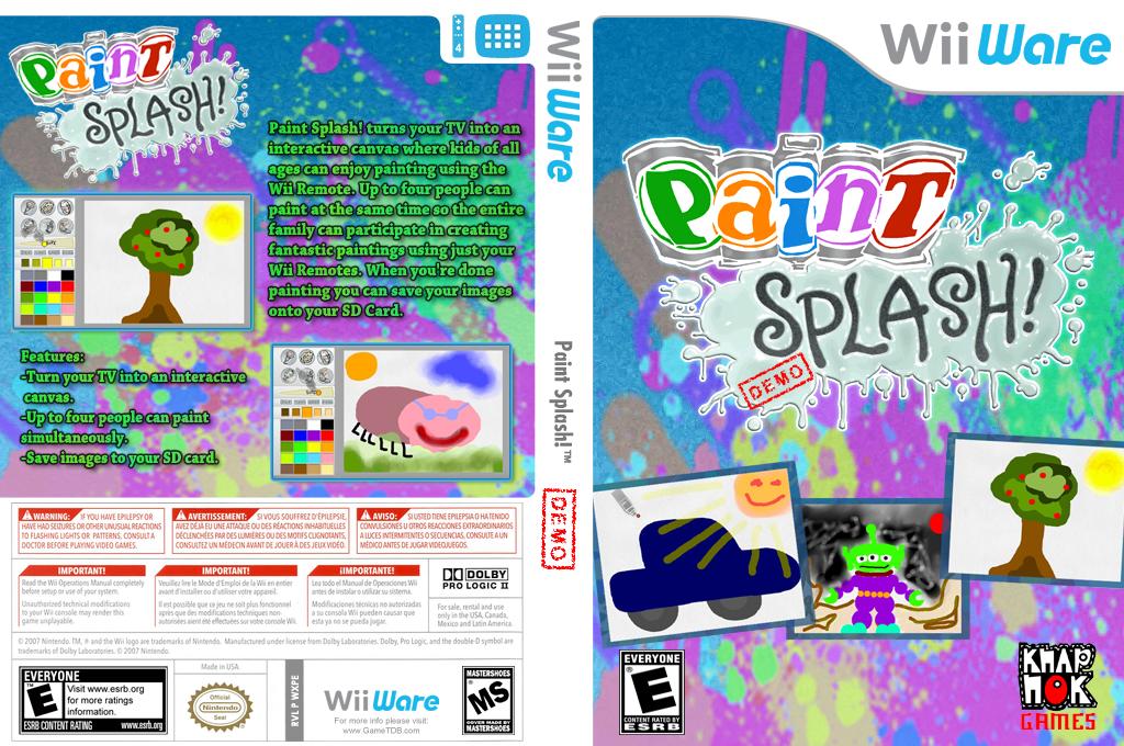 Paint Splash Demo Wii coverfullHQ (XJHE)