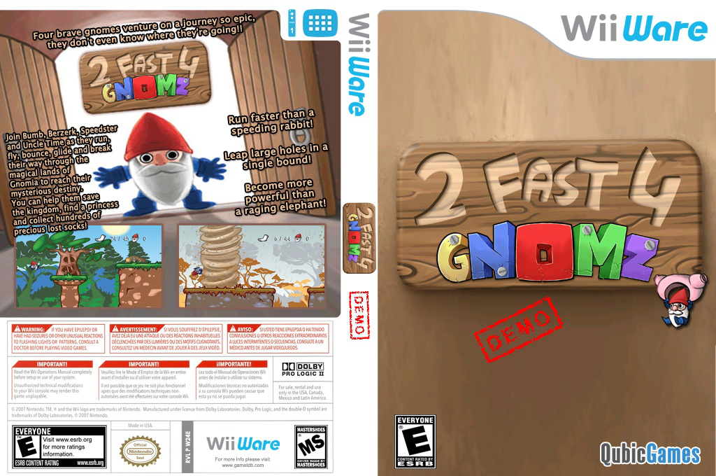 2 Fast 4 Gnomz Demo Wii coverfullHQ (XJIE)