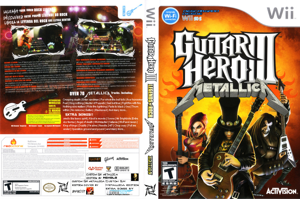 Guitar Hero III Custom : Metallica Wii coverfullHQ (CGH3ME)