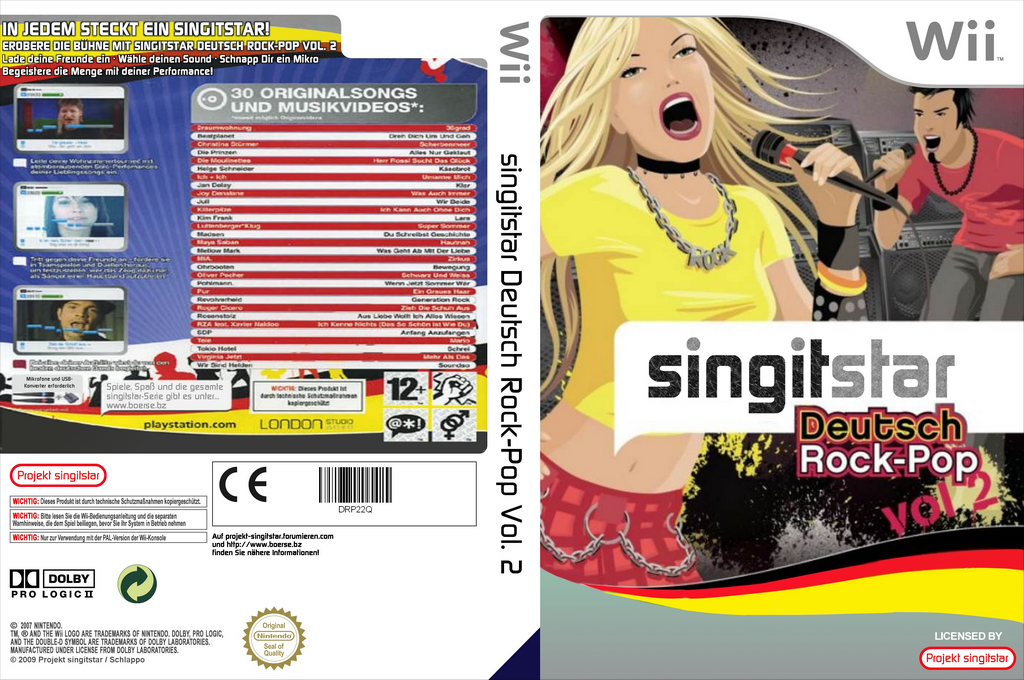 SingItStar Deutsch Rock-Pop Vol. 2 Wii coverfullHQ (DRP22Q)
