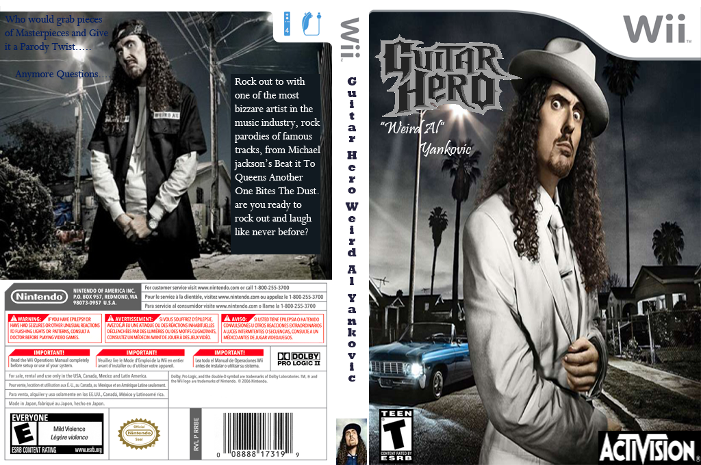 Guitar Hero III Custom : Weird Al Yankovic Wii coverfullHQ (RG1552)