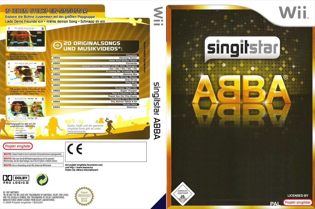 SingItStar ABBA Wii coverfullHQ (SIS2OH)