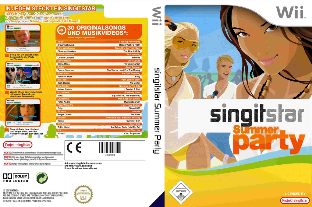 SingItStar Summer Party Wii coverfullHQ (SIS3OH)