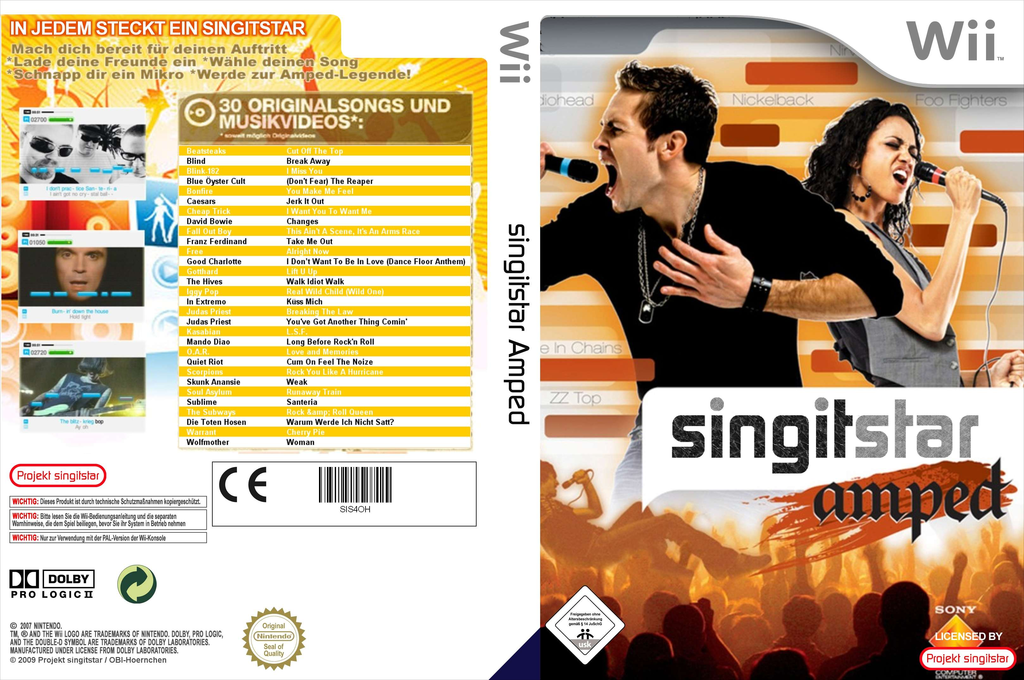 SingItStar Amped Wii coverfullHQ (SIS4OH)
