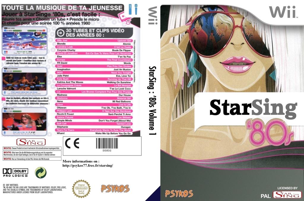 StarSing : '80s Volume 1 v1.2 Wii coverfullHQ (SIS80S)