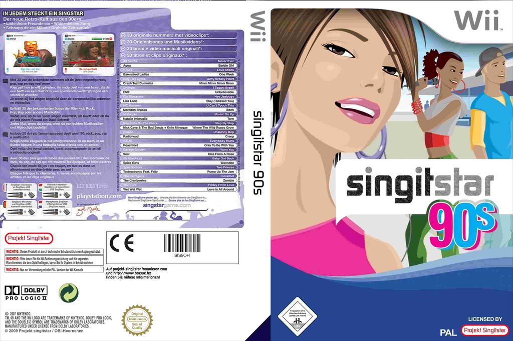 SingItStar 90's Wii coverfullHQ (SIS9OH)