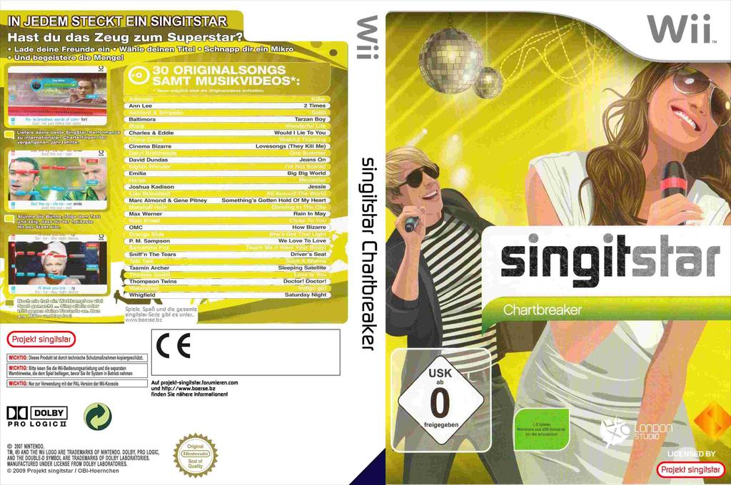 SingItStar Chartbreaker Wii coverfullHQ (SISCOH)