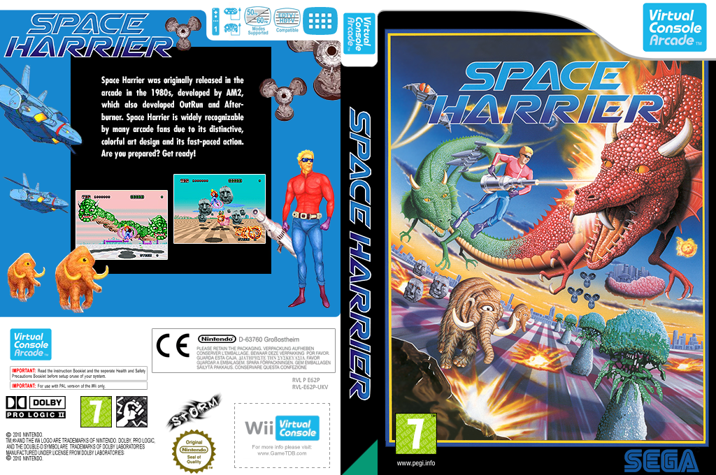 Space Harrier Wii coverfullHQ2 (E62P)