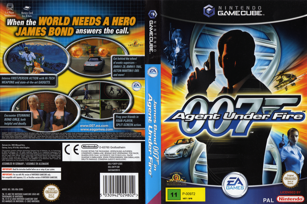 James Bond 007 in Agent Under Fire Wii coverfullHQ2 (GW7P69)