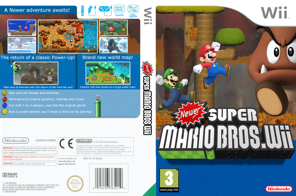 Newer Super Mario Bros. Wii Wii coverfullHQ2 (KMNP03)