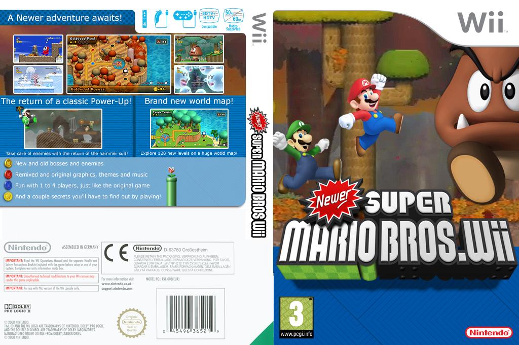 Newer Super Mario Bros. Wii Wii coverfullHQ2 (NWRP01)