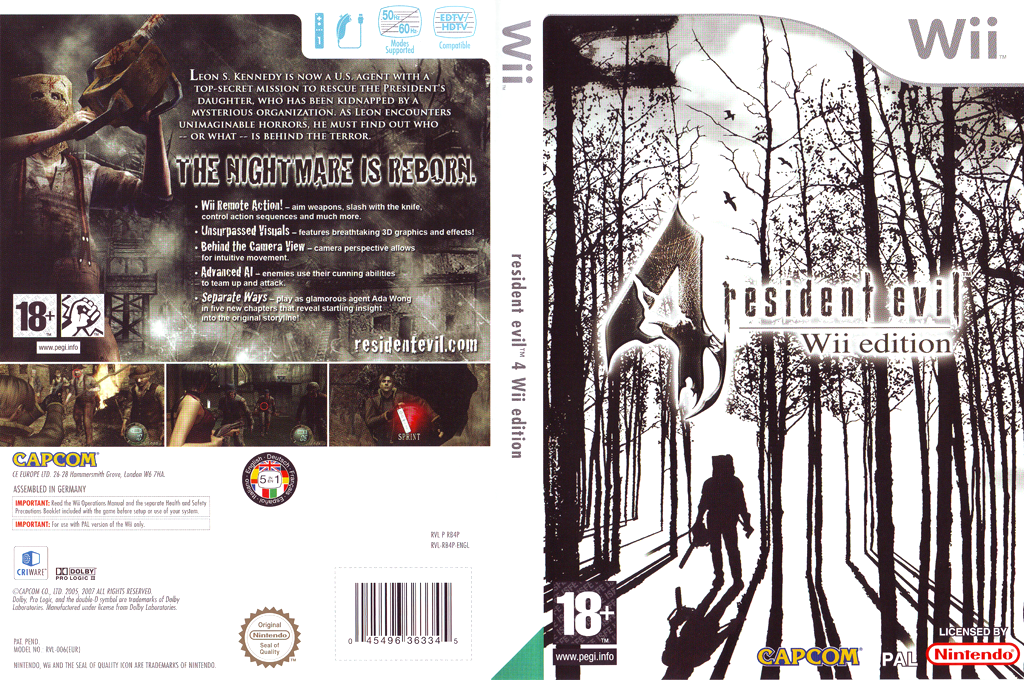 Resident Evil 4: Wii Edition Wii coverfullHQ2 (RB4P08)