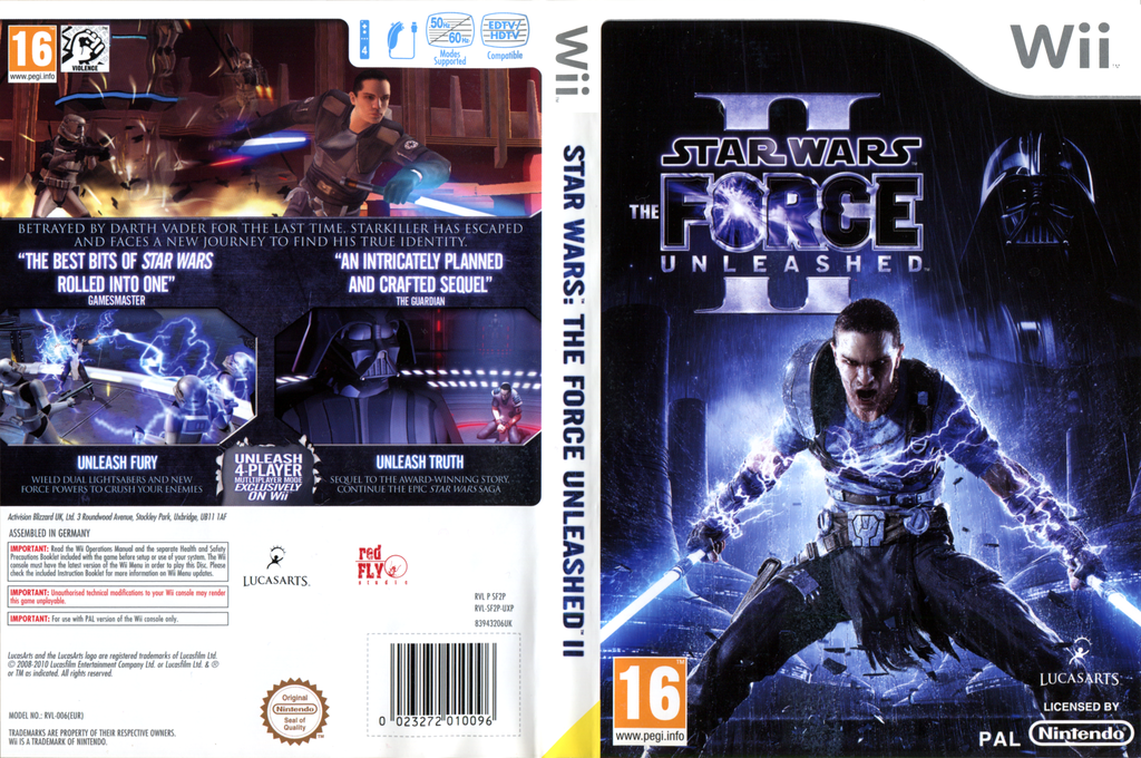 Star Wars: The Force Unleashed II Wii coverfullHQ2 (SF2P64)