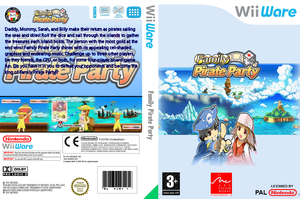 Family Pirate Party Wii coverfullHQ2 (WO6P)