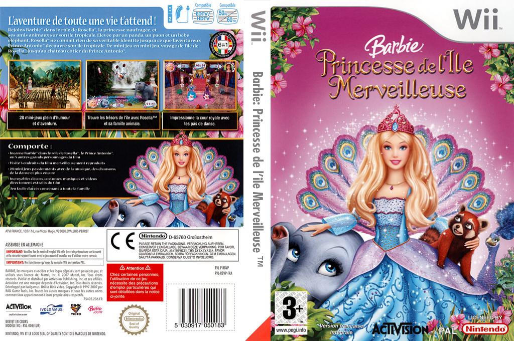 Barbie:Princesse de l'île merveilleuse Wii coverfullHQ2 (RBVP52)