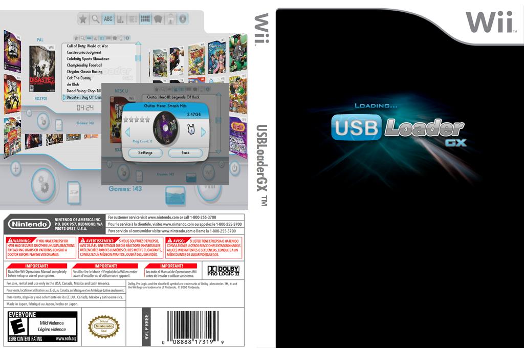 USB Loader GX Wii coverfullHQ2 (DULA)
