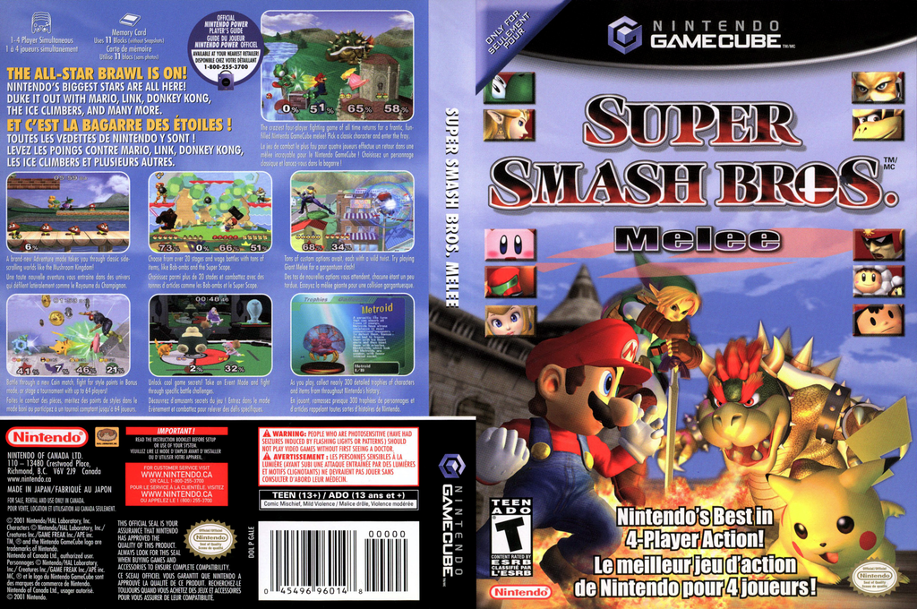 Super Smash Bros. Melee Wii coverfullHQ2 (GALE01)