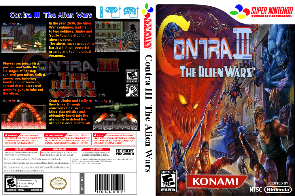 Contra III: The Alien Wars Wii coverfullHQ2 (JALE)