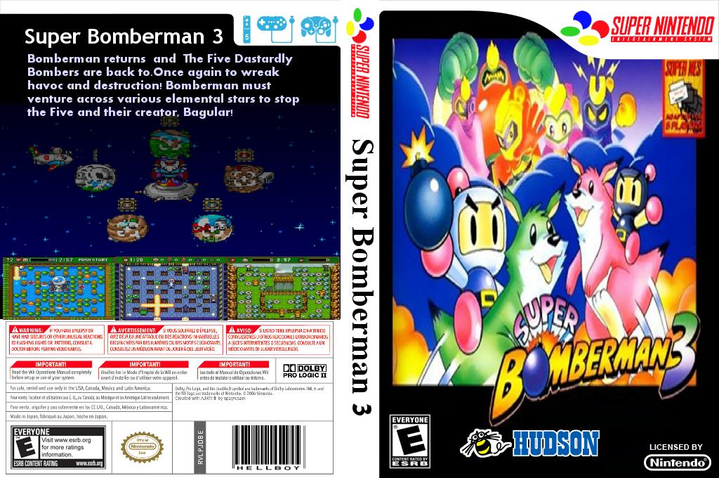 Super Bomberman 3 Wii coverfullHQ2 (JDBE)