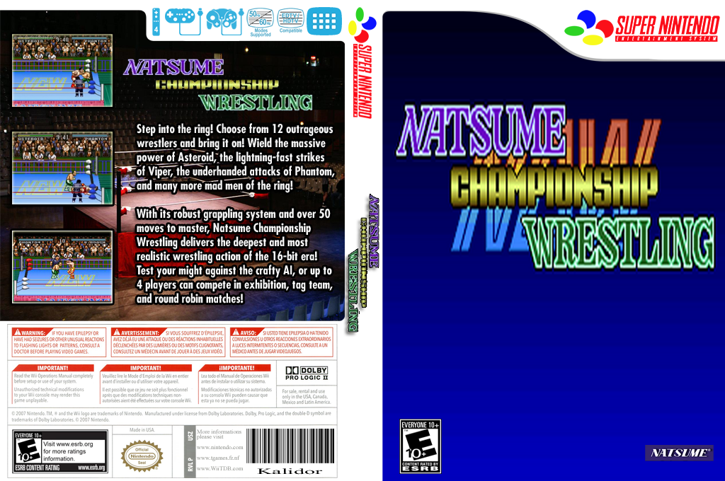 Natsume Championship Wrestling Wii coverfullHQ2 (JEAE)