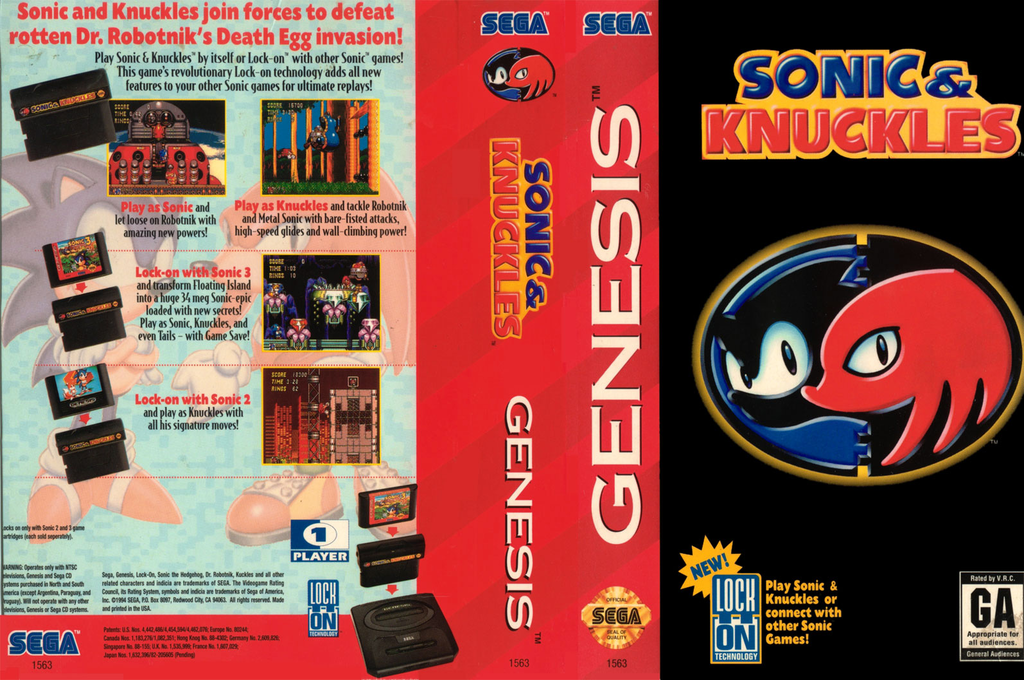 Sonic & Knuckles Wii coverfullHQ2 (MCDE)