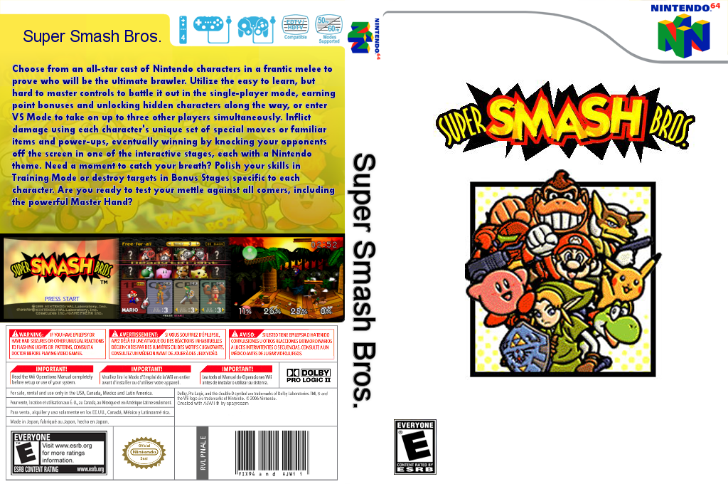 Super Smash Bros. Wii coverfullHQ2 (NALE)