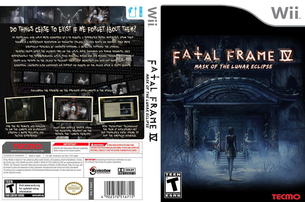 Fatal Frame 4: Mask of the Lunar Eclipse Wii coverfullHQ2 (R4ZE01)