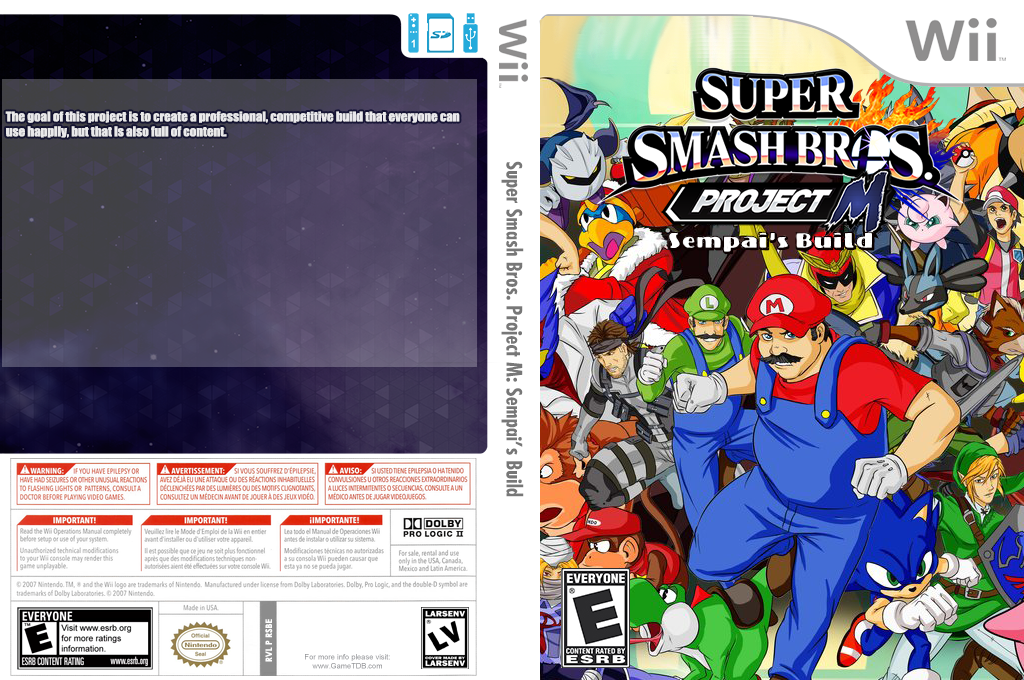 Super Smash Bros. Project M: Sempai's Build Wii coverfullHQ2 (RSBE32)