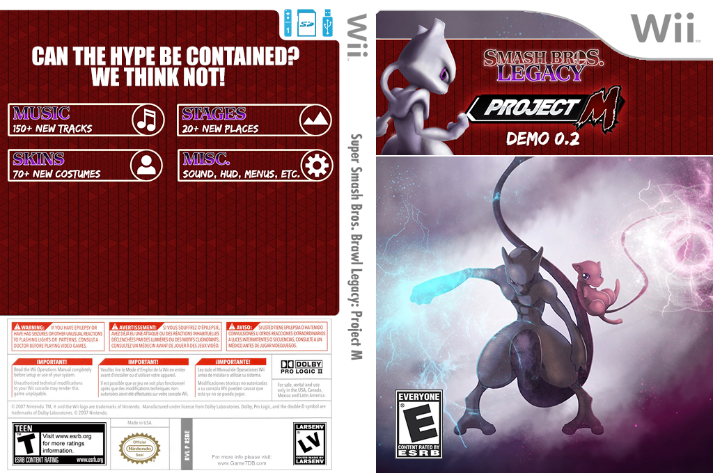 Super Smash Bros. Brawl Legacy: Project M Wii coverfullHQ2 (RSBE35)