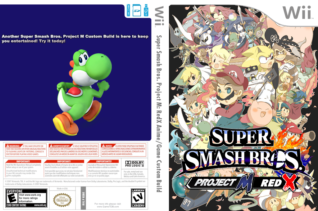 Super Smash Bros. Project M: RedX Anime/Game Custom Build Wii coverfullHQ2 (RSBE42)