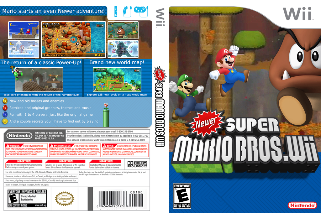 Newer Super Mario Bros. Wii Wii coverfullHQ2 (SMNE03)